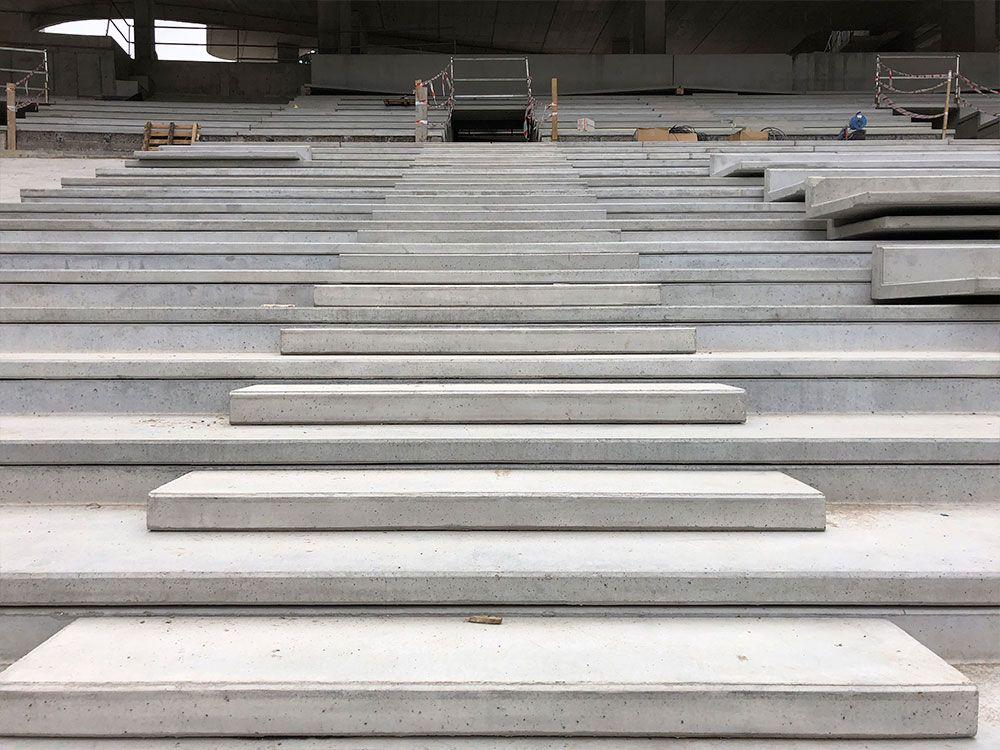 construccion de graderio para campos de futbol